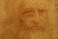 Roma 23-06-2015 Esposto per la prima volta ai Musei Capitolini L'Autoritratto di Leonardo da Vinci.<br /> Exposed for the first time at Campidoglio 'The self portrait' of Leonardo Da Vinci.<br /> Photo Samantha Zucchi Insidefoto