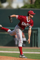 April 3 2010: Scott Snodgress of the Stanford Cardinal during game against the UCLA Bruins at UCLA in Los Angeles,CA.  Photo by Larry Goren/Four Seam Images