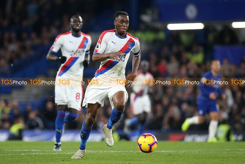 Aaron Wan-Bissaka of Crystal Palace races upfield during Chelsea vs Crystal Palace, Premier League Football at Stamford Bridge on 4th November 2018