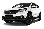 Stock pictures of low aggressive front three quarter view of 2014 Honda CR-V Lifestyle 5 Door Suv Low Aggressive