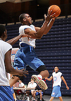 PF Samardo Samuels (Newark, NJ / St. Benedictís) shoots the ball during the NBA Top 100 Camp held Thursday June 21, 2007 at the John Paul Jones arena in Charlottesville, Va. (Photo/Andrew Shurtleff)
