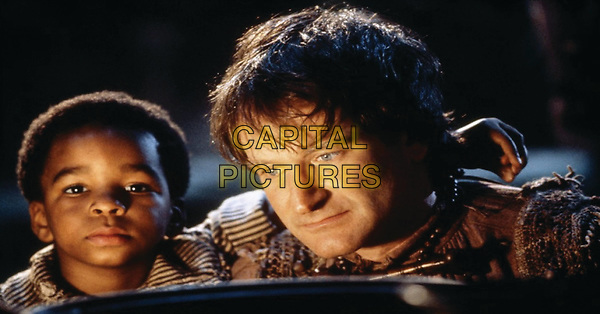 Hook (1991) <br /> Thomas Tulak &amp; Robin Williams<br /> *Filmstill - Editorial Use Only*<br /> CAP/KFS<br /> Image supplied by Capital Pictures