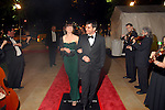 Allison Kerkhoff and Anton Sinkewich arrive at the Discovery Green Gala at Discovery Green Park downtown Saturday Feb. 23,2008.(Dave Rossman/For the Chronicle)