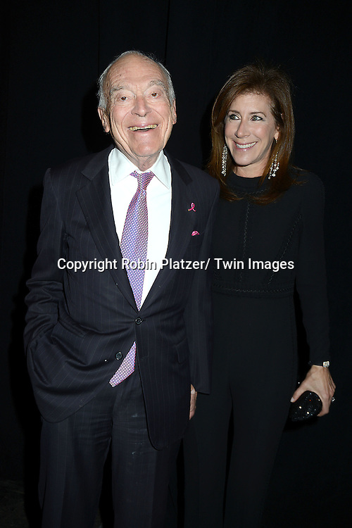 Leonard Lauder and fiancee Linda Johnson attend the 2013 Whitney Gala & Studio party honoring artist Ed Ruscha on October 23, 2013 at Skylight at Moynihan Station in New York City.
