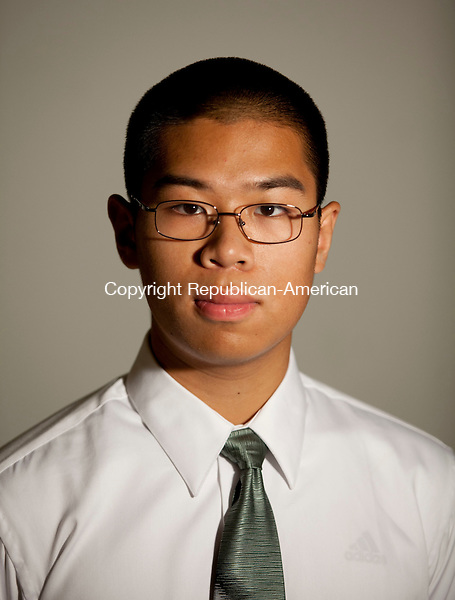 WATERBURY, CT-4 June 2014-061914BF01- Yun Yue Chen, 18, is the 2014 Valedictorian at Naugatuck High School. He will be attending Dartmouth.  Bob Falcetti Republican-American