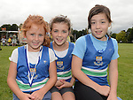 Ardee AC runners Ruth and Emma Gillispie and Kelly Mae Smith who took part in Ardee sports day. Photo:Colin Bell/pressphotos.ie