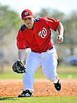 19 February 2011: Washington Nationals' pitcher Matt Chico takes fielding drills during Spring Training at the Carl Barger Baseball Complex in Viera, Florida. Mandatory Credit: Ed Wolfstein Photo
