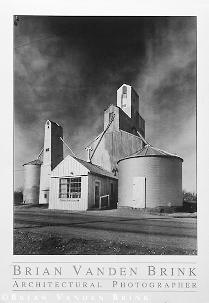 GRAIN ELEVATORS<br /> Long Island, Kansas &copy; Brian Vanden Brink, 1986