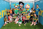 To celebrate Centra's sponsorship of the GAA Hurling All-Ireland Senior Championship, The Centra  Brighten up Your  Day Community event took place at Fitzgerald Stadium, Killarney on Saturday.  Pictured are  a group of young hurlers at the event. Picture: Eamonn Keogh (MacMonagle, Killarney)