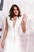 Carla Bruni attends Fashion for Relief Cannes 2018 during the 71st annual Cannes Film Festival at Aeroport Cannes Mandelieu on May 13, 2018 in Cannes, France.F<br /> CAP/GOL<br /> &copy;GOL/Capital Pictures