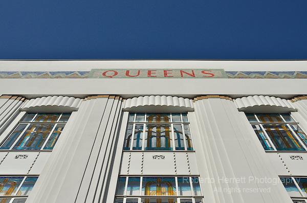 Queens W2 apartment building in Queensway, Bayswater, London, UK.