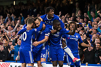 Chelsea's John Terry celebrates with team mates after scoring the opening goal    <br /> <br /> <br /> Photographer Craig Mercer/CameraSport<br /> <br /> The Premier League - Chelsea v Watford - Monday 15th May 2017 - Stamford Bridge - London<br /> <br /> World Copyright &copy; 2017 CameraSport. All rights reserved. 43 Linden Ave. Countesthorpe. Leicester. England. LE8 5PG - Tel: +44 (0) 116 277 4147 - admin@camerasport.com - www.camerasport.com