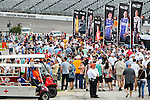 Fans wait for the Verizon Indy Car Firestone 600 race to start at Texas Motor Speedway in Fort Worth,Texas.