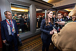 BRUSSELS - BELGIUM - 12 December 2019 -- Socialists and Democrats (PES) Pre-EU Council Meeting with Heads of State. -- Sanna Marin, Prime Minister of Finland arriving to the meeting and talking to the media. -- PHOTO: Juha ROININEN / EUP-IMAGES