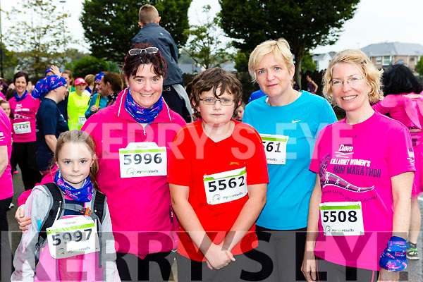 Ava and annette Houlihan, David and Nora Peskett and Andrea Moran Castleislandat the Killarney Women's mini-marathon on Saturday