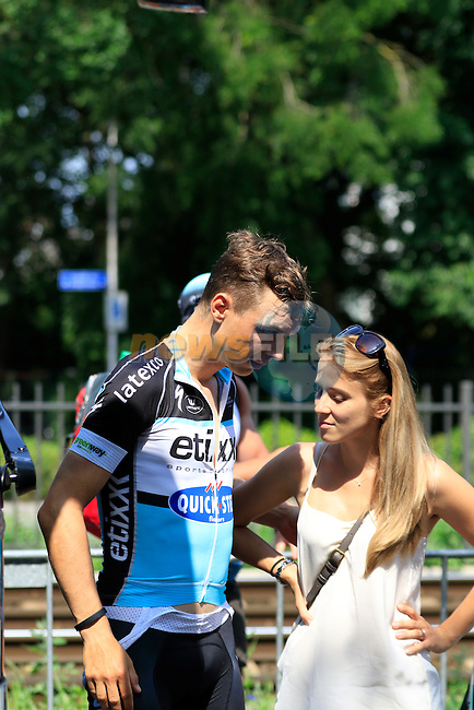 Tony Martin (GER) Etixx-Quick Step outside the team bus before Stage 2 of the 2015 Tour de France running 179.8km from Utrecht to Zeeland, Netherlands. 5th July 2015.<br /> Photo: Eoin Clarke www.newsfile.ie