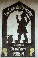 Europe/France/89/Yonne/Chablis: Enseigne d'un vigneron AOC Chablis