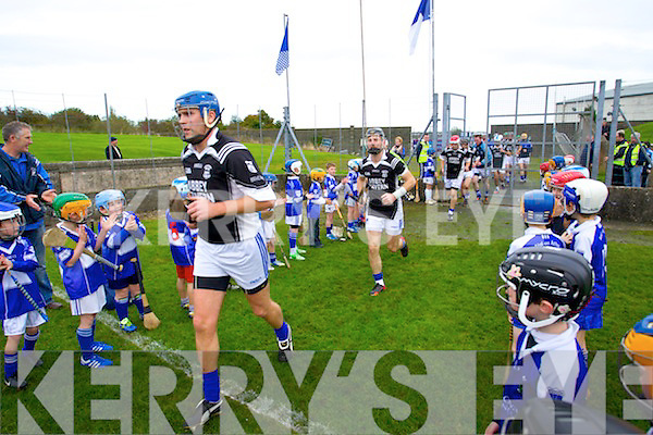 Saint Brendans Team take to the field before the Munster Intermediate Club Semi-Final at Nenagh on Sunday.