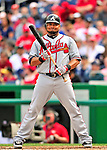 26 September 2010: Atlanta Braves outfielderMelky Cabrera in action against the Washington Nationals at Nationals Park in Washington, DC. The Nationals defeated the pennant-seeking Braves 4-2 to take the rubber match of their 3-game series. Mandatory Credit: Ed Wolfstein Photo