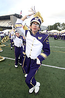 SEATTLE, WA - OCTOBER 07:  Washington band members entertained fans before the game against the California Bears on October 7, 2017 at Husky Stadium in Seattle, WA. Washington won 38-7 over California.