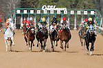 And their off on race #1 of the 2013 Oaklawn racing season. (Justin Manning/Eclipse Sportswire)