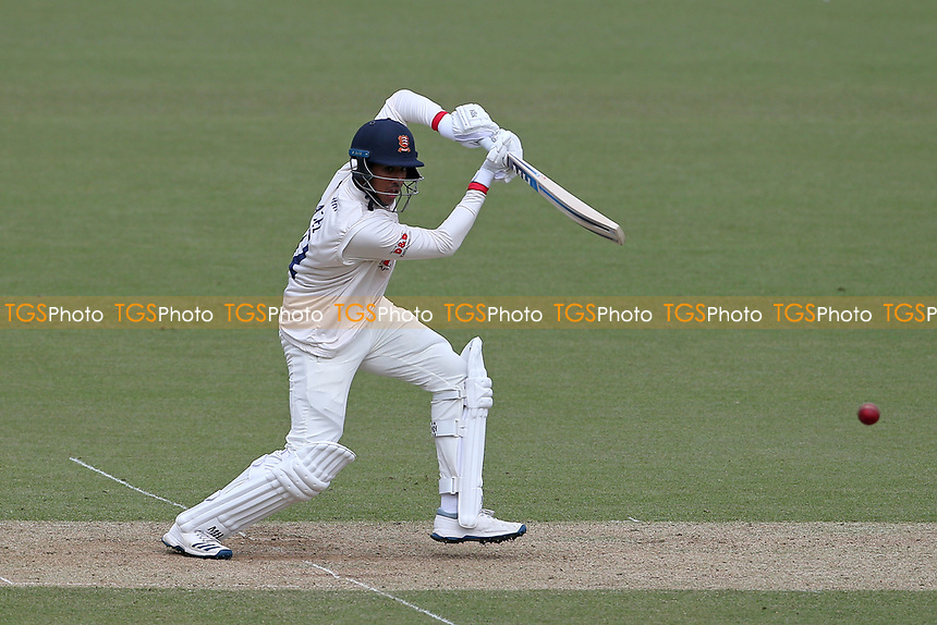 Rishi Patel hits 4 runs for Essex during Surrey CCC vs Essex CCC, Specsavers County Championship Division 1 Cricket at the Kia Oval on 12th April 2019