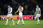WBA's Jake Livermore and Gareth McAuley look on dejected after going 1-0 down during the Premier League match at Vicarage Road Stadium, London. Picture date: April 4th, 2017. Pic credit should read: David Klein/Sportimage