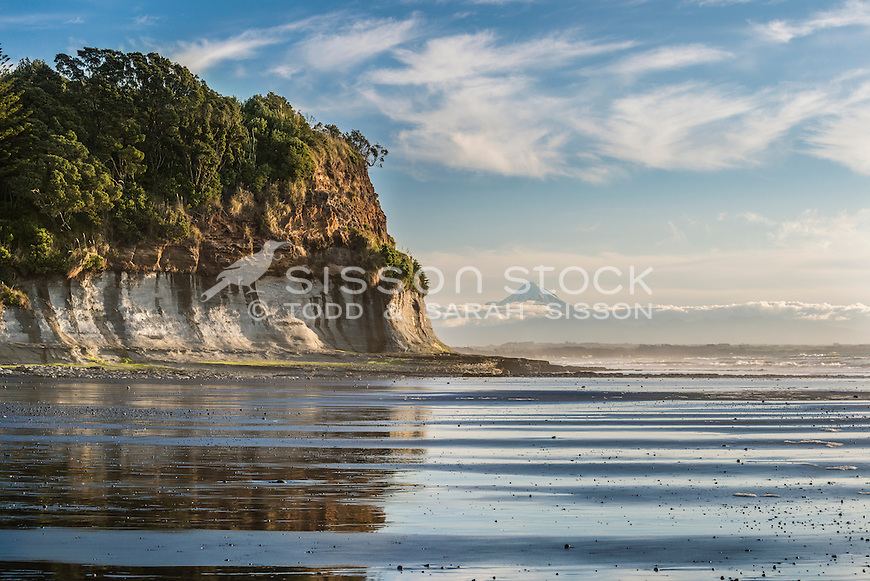 Waiiti Beach, Taranaki, New Zealand - stock photo, canvas, fine art print