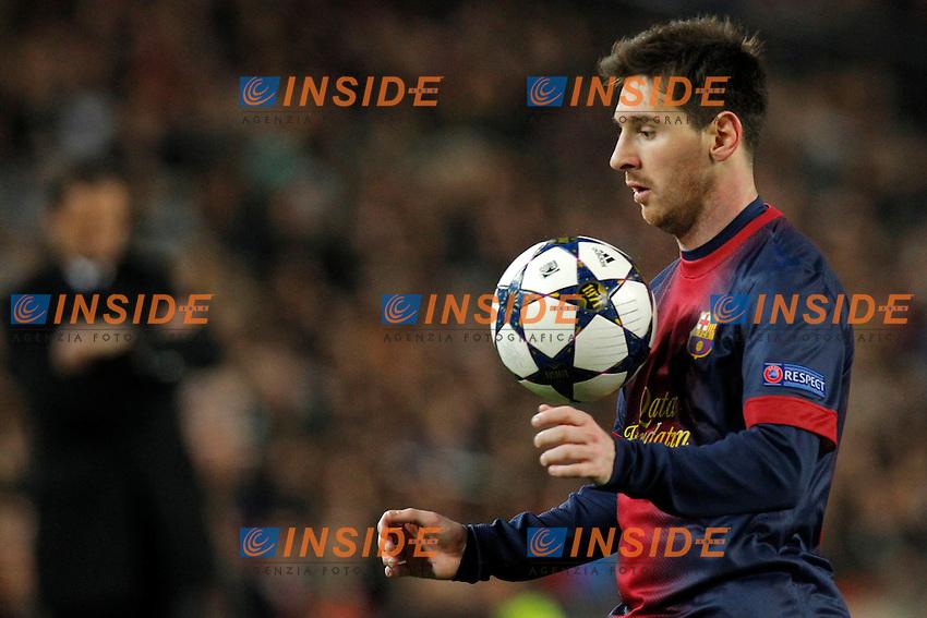 "Lionel Messi Barcellona, Barcellona 12/3/2013 .Stadio ""Camp Nou"".Football Calcio 2012/2013 Champions League.Barcellona Vs Milan - Barcelona Vs Milan .Foto Marco Bertorello Insidefoto"