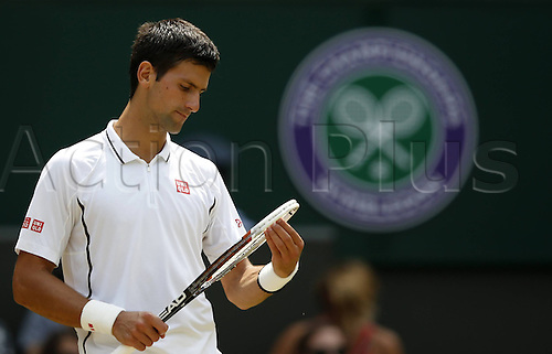 05.07.2013. Wimbledon, London, England.  Novak Djokovic of Serbia versus Martin Del Potro (Arg) in the mens singles semi-finals match