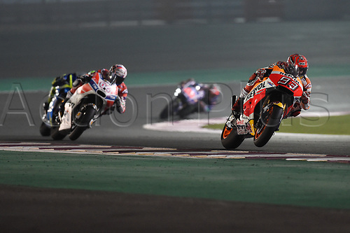 March 26th 2017, Doha, Qatar; MotoGP Grand Prix Qatar; Marc Marquez (Repso honda)