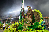 SÃO PAULO, SP, 09.03.2019 - CARNAVAL-SP - Integrante da escola de samba Mancha Verde durante Desfile das Campeãs do Carnaval de São Paulo, no Sambódromo do Anhembi em São Paulo, na madrugada deste sabado, 09. (Foto: Levi Bianco/Brazil Photo Press)