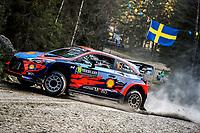 13th February 2020, Torsby base and Karlstad, Värmland County, Sweden; WRC Rally of Sweden, Shakedown event;  Craig BREEN (IRL) - Paul Nagle - Hyundai