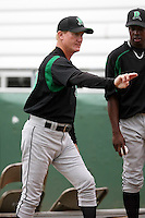 June 13th 2008:  Pitching Coach Doug Bair of the Dayton Dragons, Class-A affiliate of the Cincinnati Reds, during a game at Stanley Coveleski Regional Stadium in South Bend, IN.  Photo by:  Mike Janes/Four Seam Images