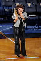 20 November 2008:  UALR Volleyball Head Coach Van Compton signals to her players during the New Orleans 3-1 victory over UALR in the first round of the Sun Belt Conference Championship tournament at FIU Stadium in Miami, Florida.