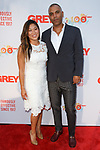 Actress Jenna Ushkowitz and Michael Houston of Grey arrive at the Grey Centennial Gala at Madison Square Park in New York City on May 18, 2017.