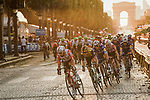 The peloton led by Thomas De Gendt (BEL) Lotto-Soudal on the Champs-Elysees during Stage 21 of the 2019 Tour de France running 128km from Rambouillet to Paris Champs-Elysees, France. 28th July 2019.<br /> Picture: ASO/Pauline Ballet | Cyclefile<br /> All photos usage must carry mandatory copyright credit (© Cyclefile | ASO/Pauline Ballet)