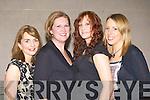 Patricia Marshall, Margaret Morrison, Martha Healy and Dympna Healy Killarney at the Muckross Rowing club fashion show in Hotel Europe, Killarney on Wednesday evening