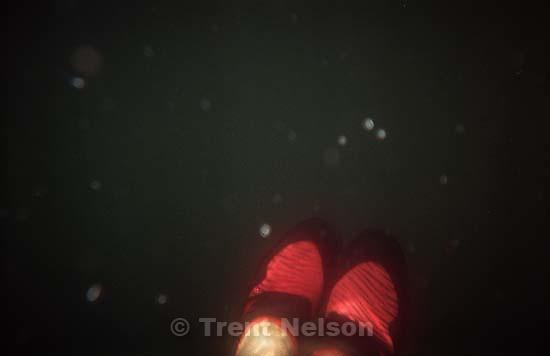 Trent feet underwater at Sword Lake<br />