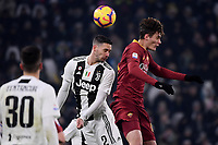 Mattia De Sciglio of Juventus and Patrik Schick of AS Roma compete for the ball during the Serie A 2018/2019 football match between Juventus and AS Roma at Allianz Stadium, Roma, December 22, 2018 <br /> Foto OneNine / Insidefoto