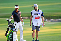 Mike Lorenzo-Vera (FRA) on the 18th during the 2nd round of the DP World Tour Championship, Jumeirah Golf Estates, Dubai, United Arab Emirates. 22/11/2019<br /> Picture: Golffile | Fran Caffrey<br /> <br /> <br /> All photo usage must carry mandatory copyright credit (© Golffile | Fran Caffrey)