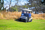 A health and safety overloading-of-golf-cart breach goes unnoticed on the 4th fairway. Final day of the Jennian Homes Charles Tour / Brian Green Property Group New Zealand Super 6s at Manawatu Golf Club in Palmerston North, New Zealand on Sunday, 8 March 2020. Photo: Dave Lintott / lintottphoto.co.nz