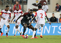Jacksonville, FL - September 6, 2016: The U.S. Men's National team go up 3-0 over Trinidad & Tobago with Jozy Altidore contributing 2 goals during a World Cup Qualifier (WCQ) match at EverBank Field.