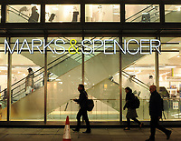 British retailer Marks and Spencer in London, UK<br /> 04-Nov-2013