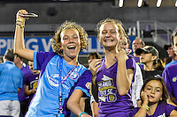 Orlando, FL - Thursday June 23, 2016: Fans during a regular season National Women's Soccer League (NWSL) match between the Orlando Pride and the Houston Dash at Camping World Stadium.