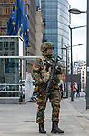 "BRUSSELS - BELGIUM - 22 March 2016 -- Bomb attack in Brussels Maelbeek metro station - EU quarters. -- The EU-Council building ""Justus Lipsius"" being evacuated. -- PHOTO: Juha ROININEN / EUP-IMAGES"