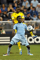 Kei Kamara (23) Sporting KC forwrad in action... Sporting Kansas City defeated Columbus Crew 2-1 at LIVESTRONG Sporting Park, Kansas City, Kansas.