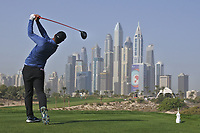 Shubhankar Sharma (IND) on the 8th tee during Round 3 of the Omega Dubai Desert Classic, Emirates Golf Club, Dubai,  United Arab Emirates. 26/01/2019<br /> Picture: Golffile | Thos Caffrey<br /> <br /> <br /> All photo usage must carry mandatory copyright credit (© Golffile | Thos Caffrey)