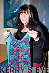 Sandra Roles shows off one of her Gorgeousgu?na at the launch of Craft in Kerry................... . ............................... ..........