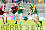 Sean O'Shea Kerry in action against Sean Raftery Galway in the All Ireland Minor Football Final in Croke Park on Sunday.
